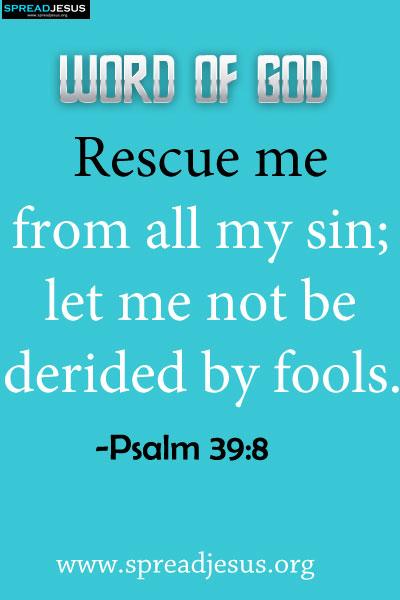 Bible verses Psalm 39:8