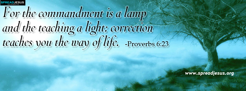 Proverbs 6:23 Facebook timeline cover