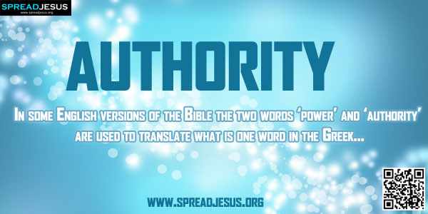 Difference Between Authority And Power In The Bible