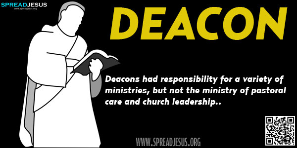 Biblical Definition Of DEACON In the early days of the Jerusalem church, Christians shared their food and possessions so that all in the church had enough for their day-to-day needs.