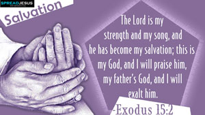 Bible Quotes HD-Wallpapers Exodus 15:2