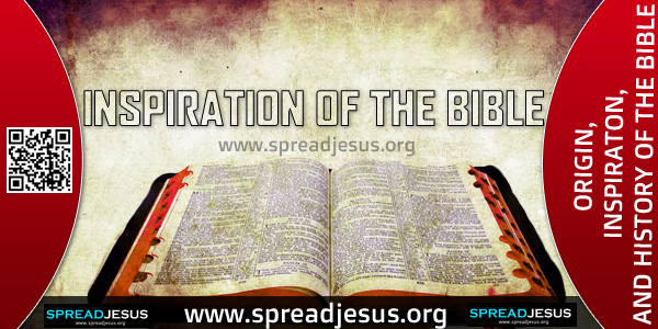ORIGIN-INSPIRATON-AND HISTORY OF THE BIBLE-INSPIRATION OF THE BIBLE,The Books of the Bible have as their principal author the Holy Spirit, although He Himself did not write them.