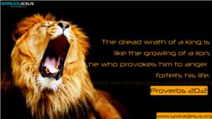 BIBLE QUOTES Proverbs 20:2