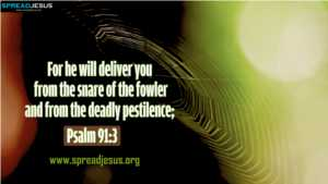Psalm 91:3 BIBLE QUOTES HD-WALLPAPERS