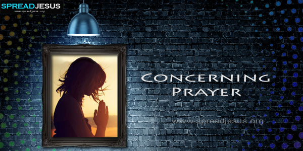 Concerning Prayer