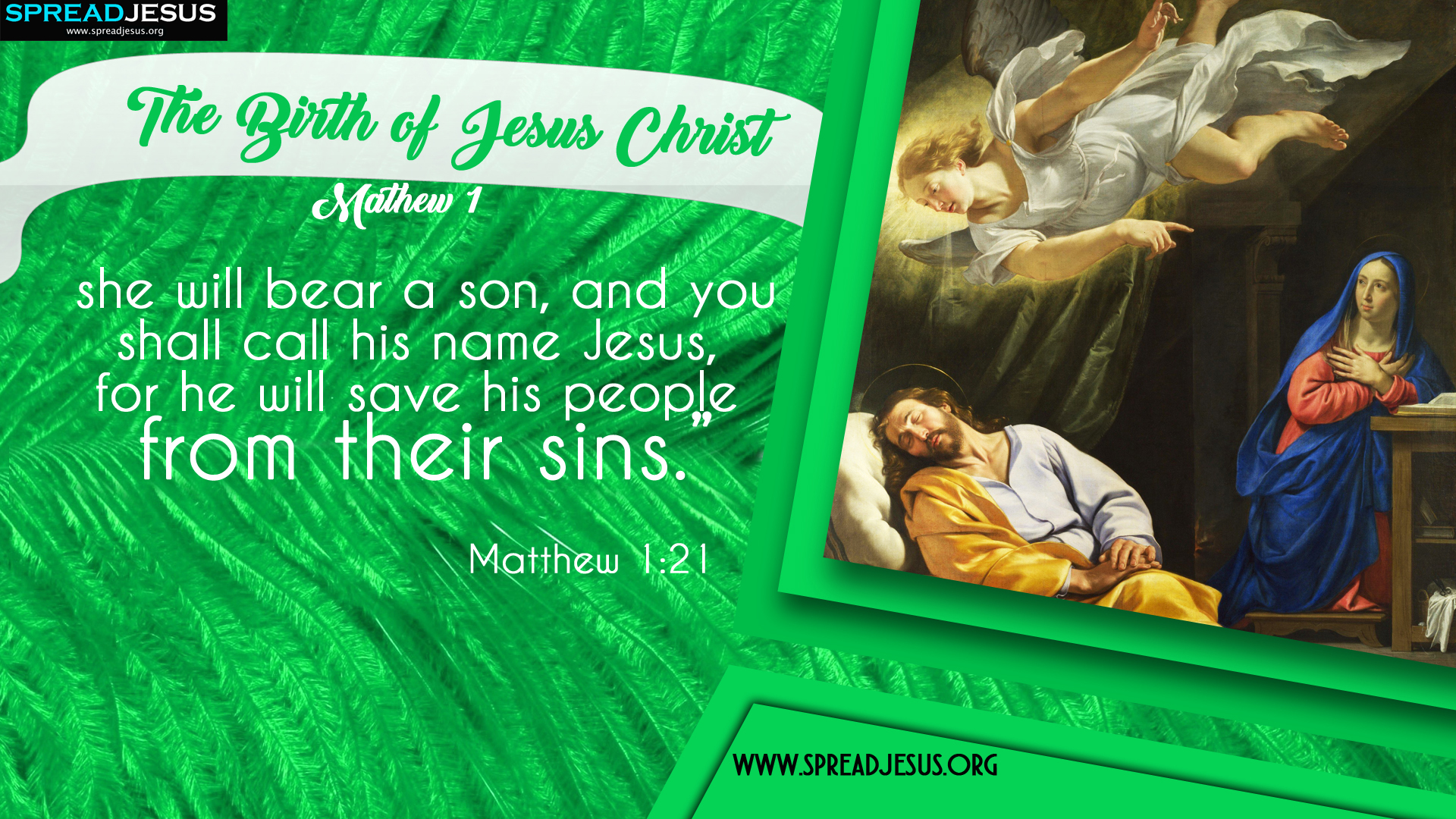 The Birth of Jesus Christ Matthew 1:21 HD-Wallpapers