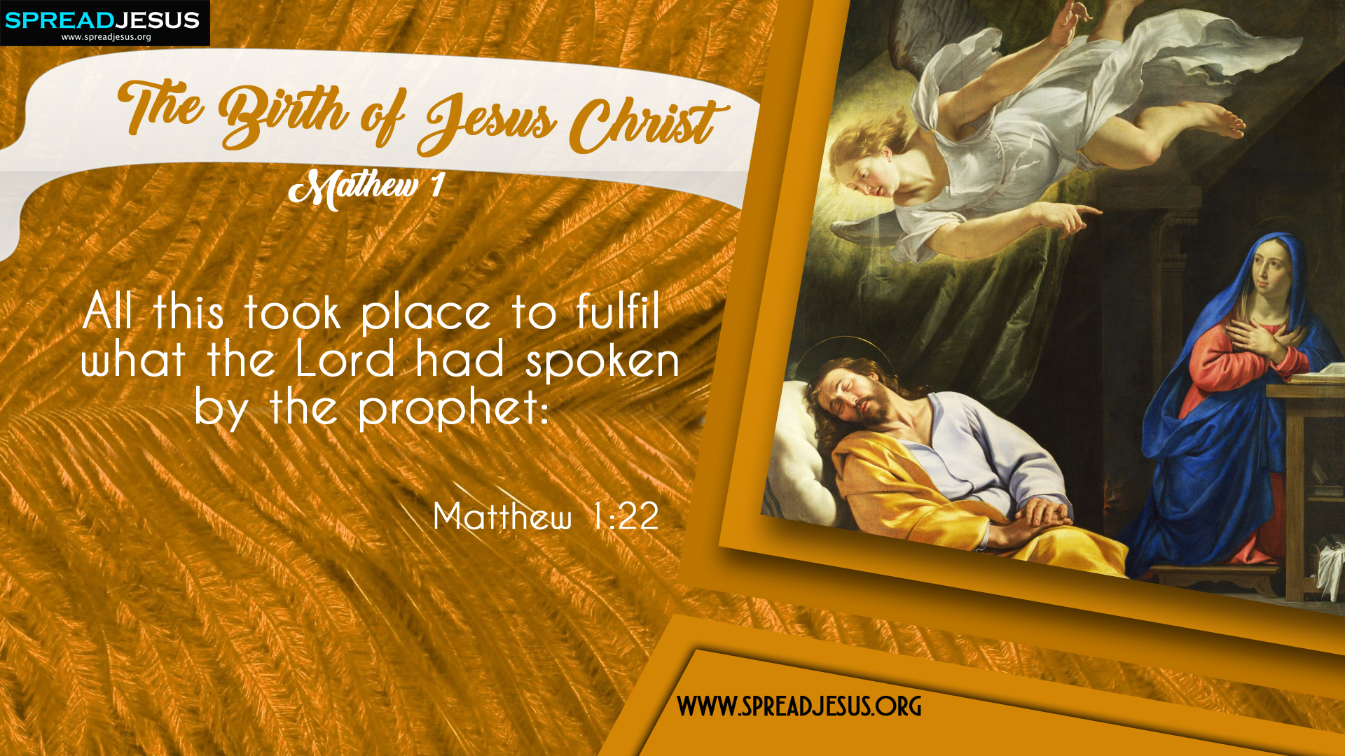 The Birth of Jesus Christ Matthew 1:22 HD-Wallpapers