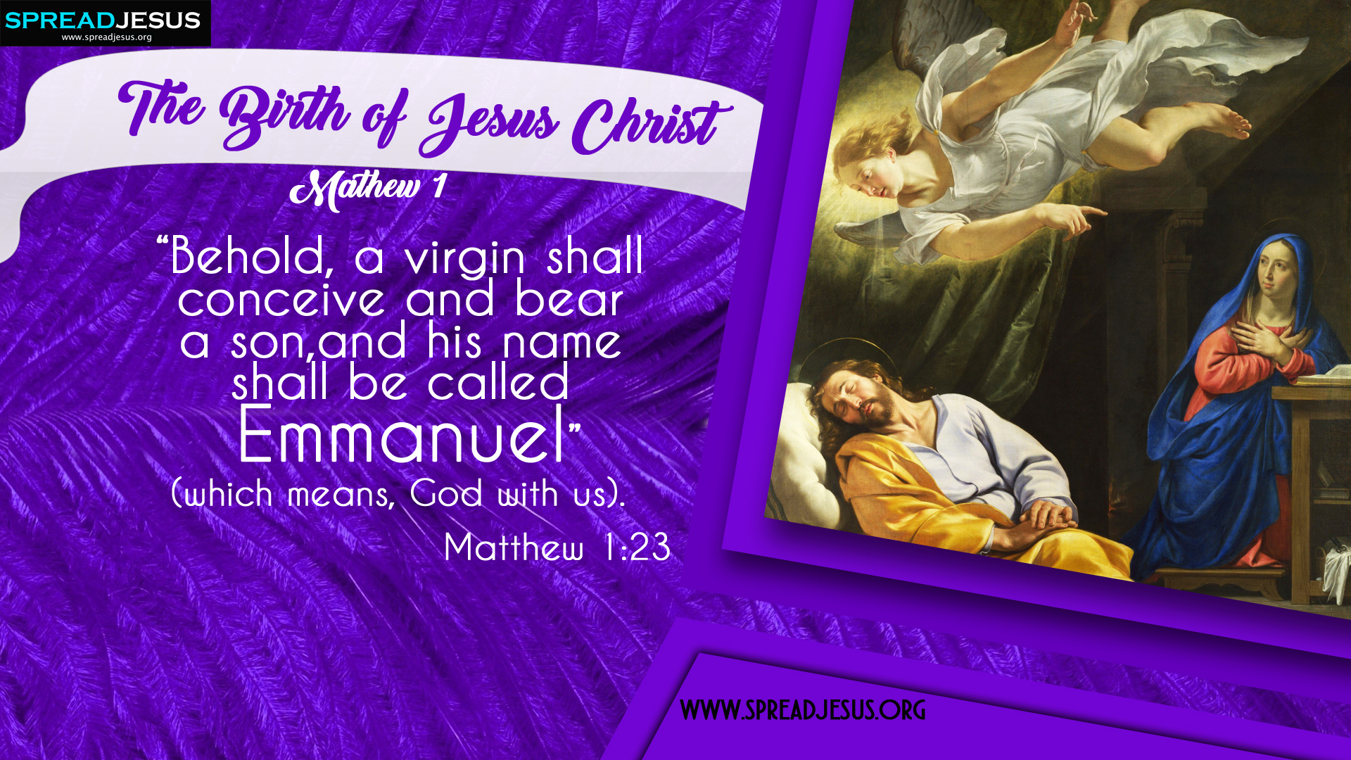 The Birth of Jesus Christ Matthew 1:23 HD-Wallpapers