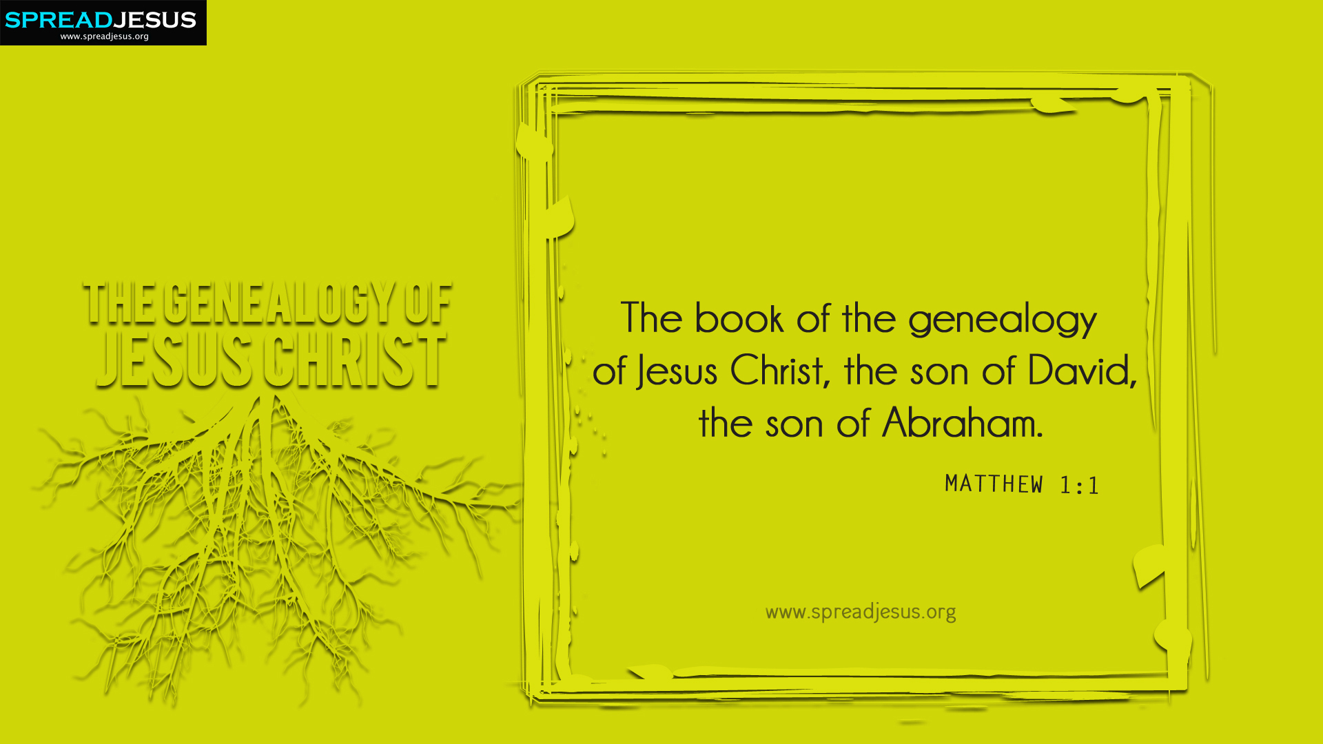 The Genealogy of Jesus Christ Matthew 1:1 HD-Wallpapers