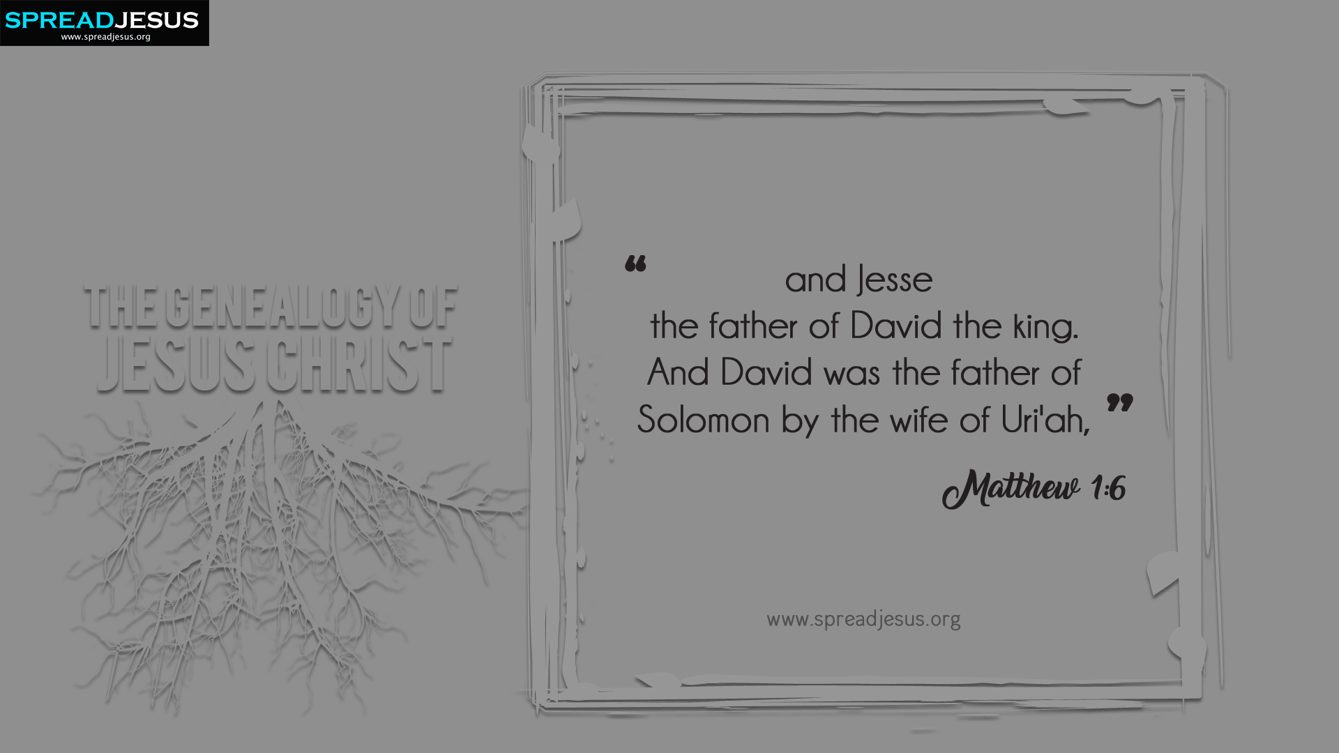 The Genealogy of Jesus Christ Matthew 1:6 HD-Wallpapers
