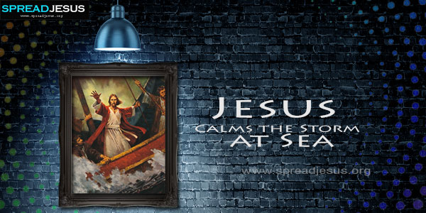 Jesus Calms the Storm at Sea