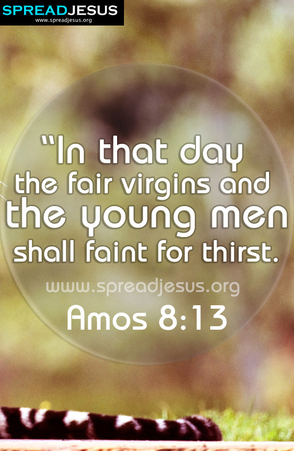 BIBLE QUOTES IMAGES  Amos 8:13