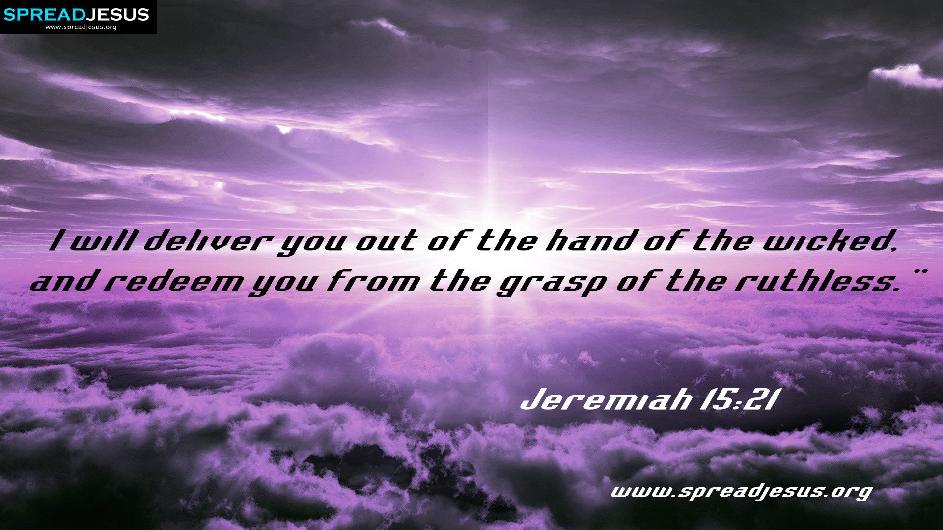 Jeremiah 15:21 BIBLE QUOTES