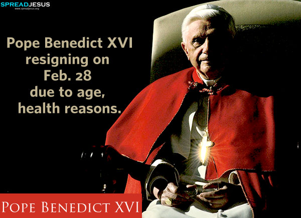 Pope Benedict XVI-First pope to resign in 600 years